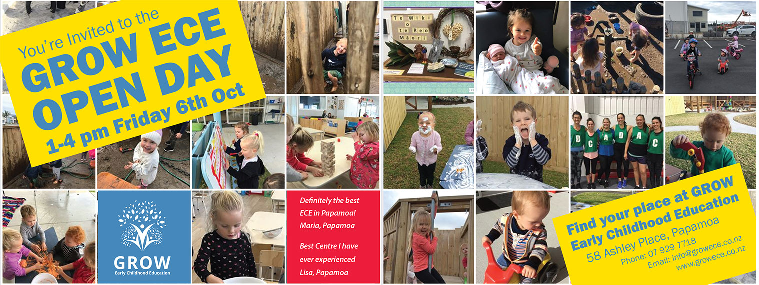 grow ece open day friday 6th october 1 - 4pm